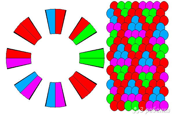 Схема фенечки кумихимо 12143