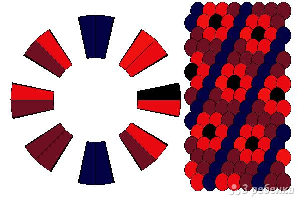 Схема фенечки кумихимо 12138