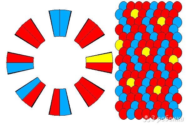 Схема фенечки кумихимо 12134