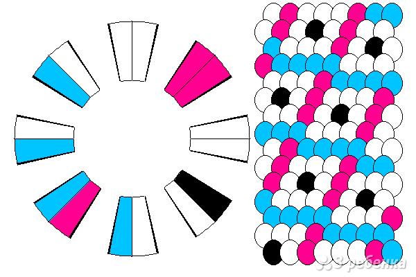 Схема фенечки кумихимо 12130