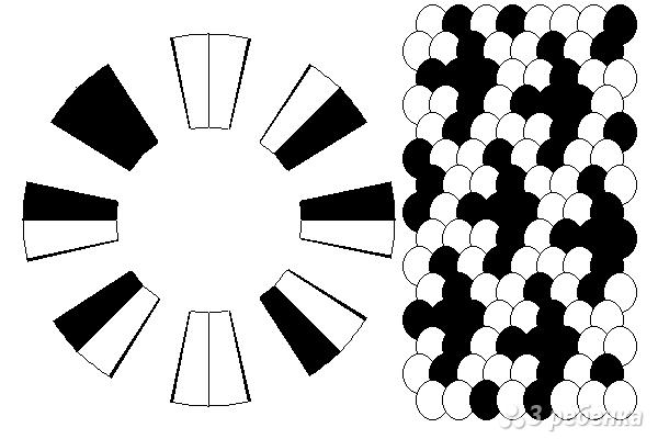 Схема фенечки кумихимо 12126