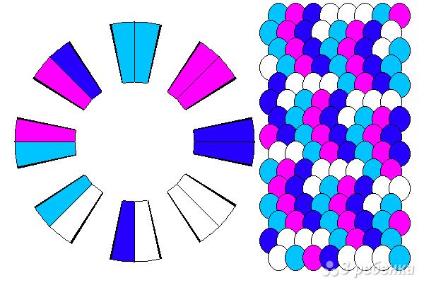 Схема фенечки кумихимо 12122