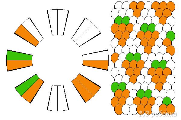 Схема фенечки кумихимо 12116