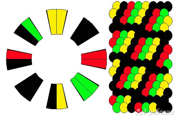 Схема фенечки кумихимо 12112