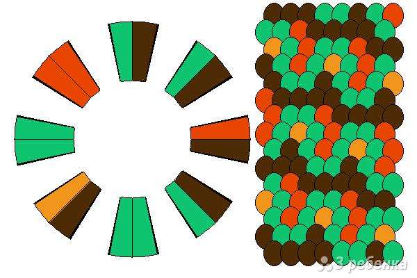 Схема фенечки кумихимо 12107