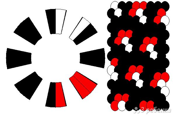 Схема фенечки кумихимо 12103