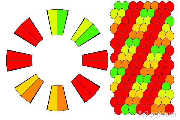 Схема фенечки кумихимо 12099