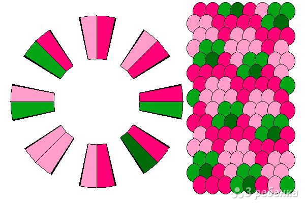 Схема фенечки кумихимо 12094