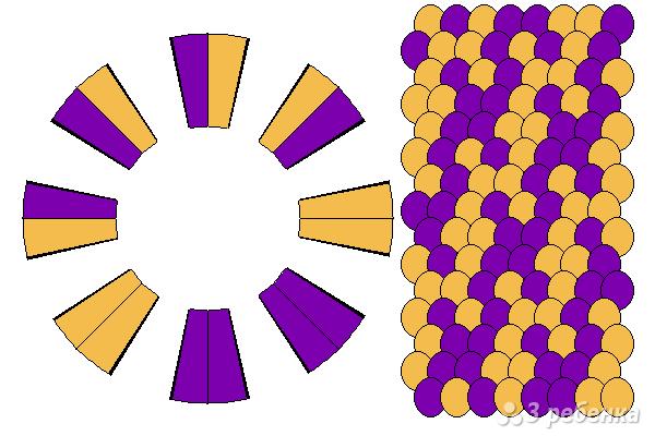 Схема фенечки кумихимо 12086