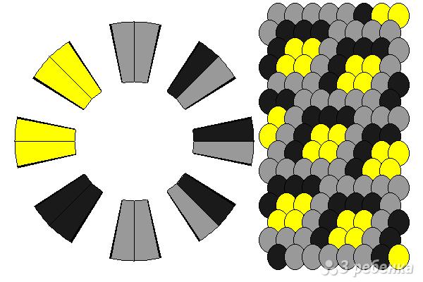 Схема фенечки кумихимо 12080