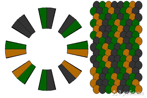 Схема фенечки кумихимо 12075