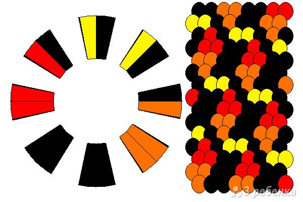 Схема фенечки кумихимо 12070