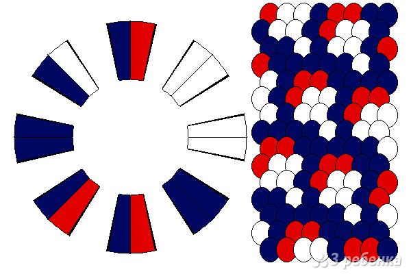Схема фенечки кумихимо 12065