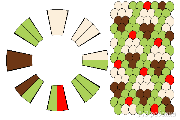 Схема фенечки кумихимо 12061