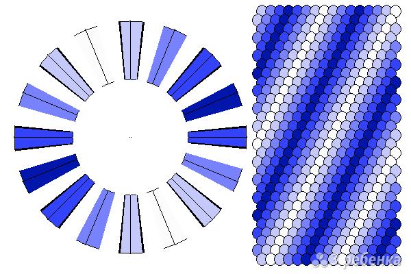 Схема фенечки кумихимо 11691