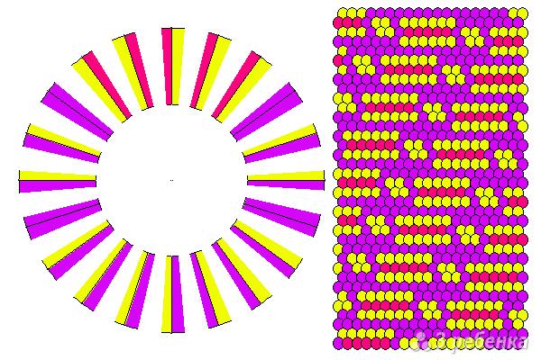 Схема фенечки кумихимо 11687
