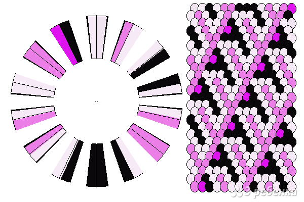 Схема фенечки кумихимо 11675