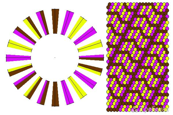Схема фенечки кумихимо 11661