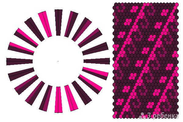 Схема фенечки кумихимо 11657