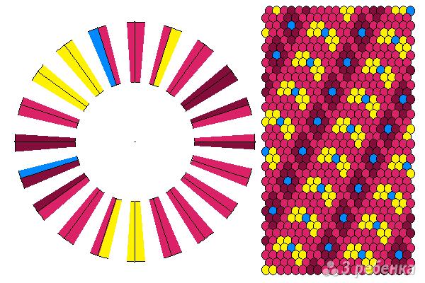 Схема фенечки кумихимо 11653