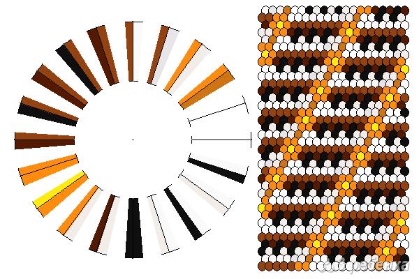 Схема фенечки кумихимо 11649