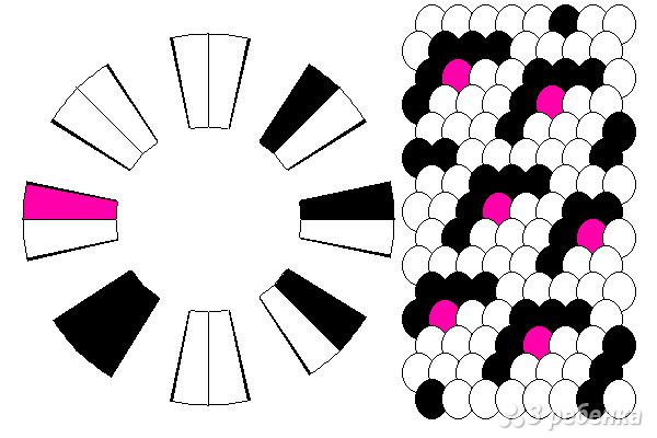 Схема фенечки кумихимо 11643