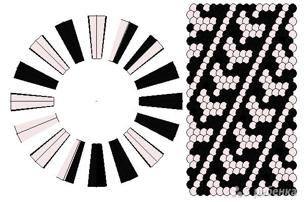 Схема фенечки кумихимо 11638