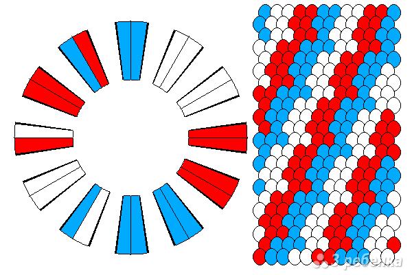 Схема фенечки кумихимо 11634