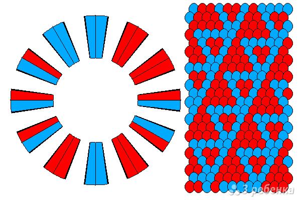 Схема фенечки кумихимо 11626