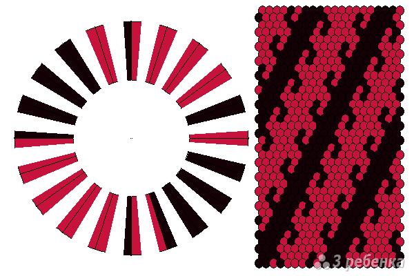 Схема фенечки кумихимо 11616