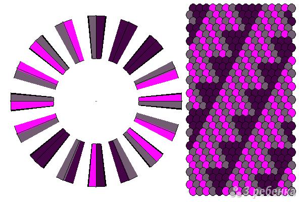Схема фенечки кумихимо 11611