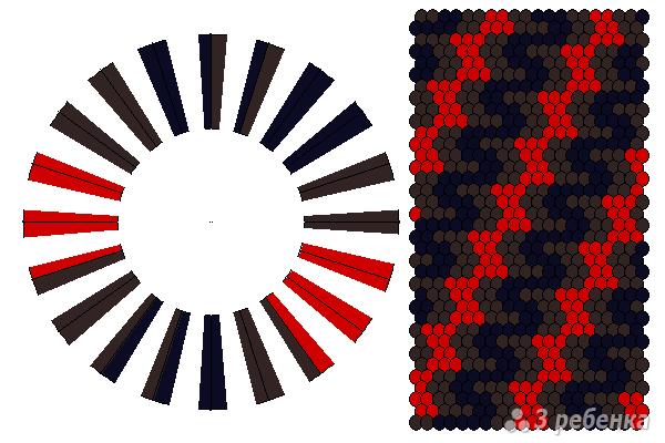Схема фенечки кумихимо 11607