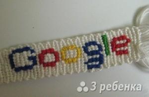 Схема фенечки прямым плетением 13072