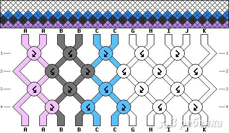 Схема фенечки 12749