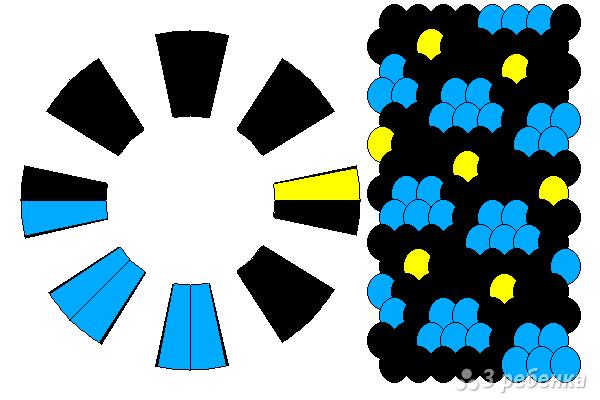 Схема фенечки кумихимо 12426