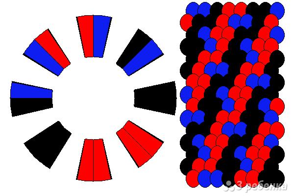 Схема фенечки кумихимо 12422
