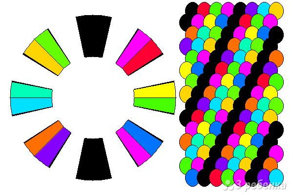 Схема фенечки кумихимо 12417