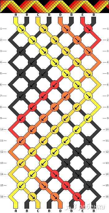 Схема фенечки 12821