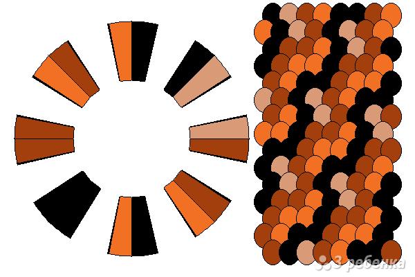 Схема фенечки кумихимо 12402