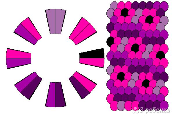 Схема фенечки кумихимо 12398