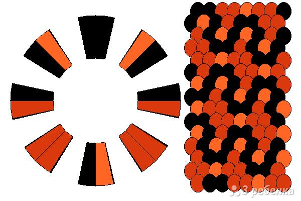 Схема фенечки кумихимо 12385
