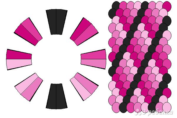 Схема фенечки кумихимо 12381