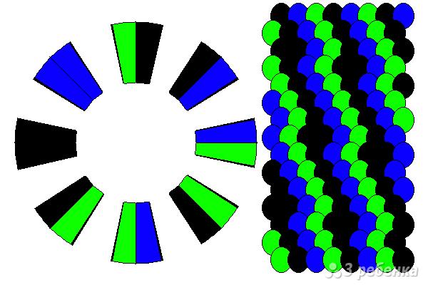 Схема фенечки кумихимо 12376
