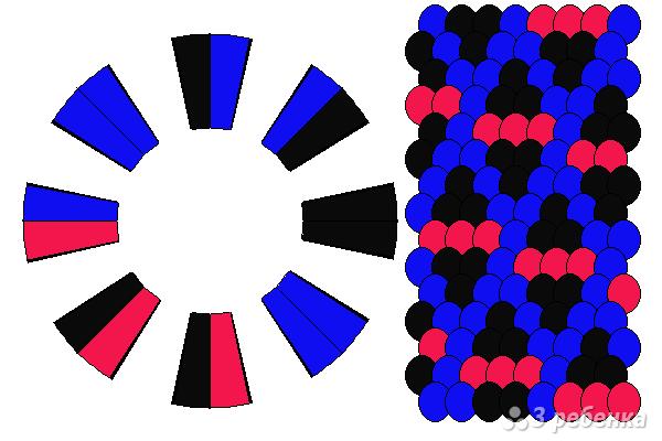 Схема фенечки кумихимо 12366