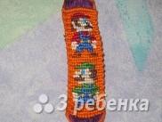 Схема фенечки прямым плетением 13170