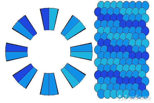 Схема фенечки кумихимо 12362