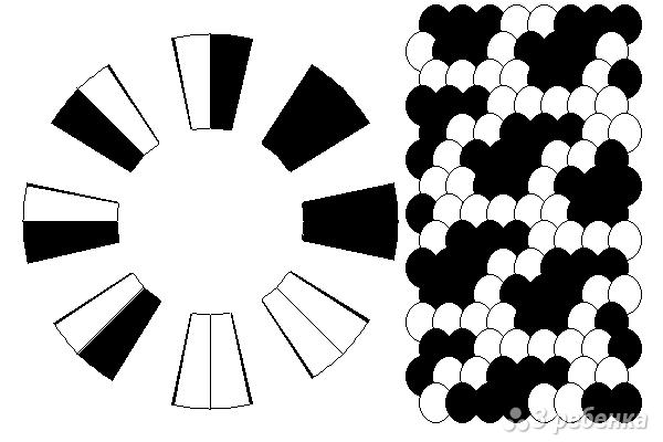 Схема фенечки кумихимо 12358