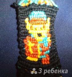 Схема фенечки прямым плетением 13053