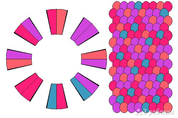 Схема фенечки кумихимо 12354