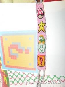 Схема фенечки прямым плетением 12877